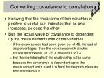 converting covariance to correlation