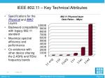 ieee 802 11 key technical attributes