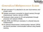generalized multiprocessor system1