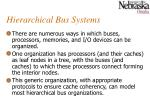 hierarchical bus systems