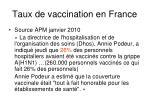 taux de vaccination en france