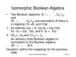 isomorphic boolean algebra
