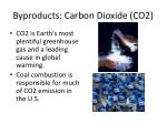 byproducts carbon dioxide co2