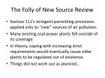 the folly of new source review