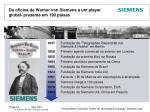 da oficina de werner von siemens a um player global presente em 190 pa ses