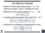 ica mixture model