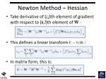 newton method hessian