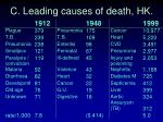 c leading causes of death hk