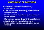 assessment of body iron