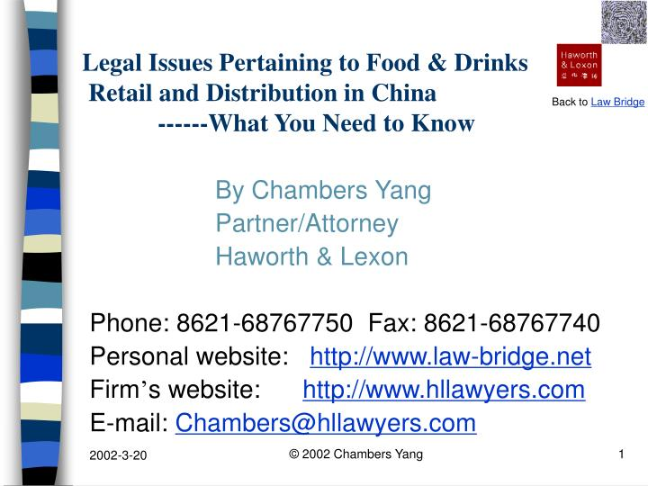 legal issues pertaining to food drinks retail and distribution in china what you need to know n.