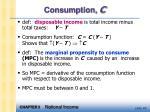 consumption c