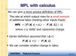 mpl with calculus