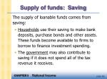 supply of funds saving