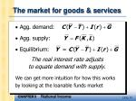 the market for goods services