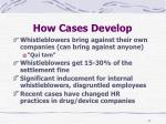how cases develop