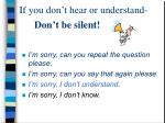 don t be silent