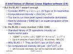 a brief history of dense linear algebra software 2 6