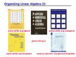 organizing linear algebra 3