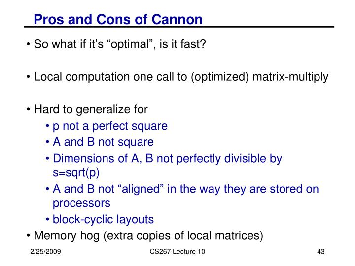 Pros and Cons of Cannon