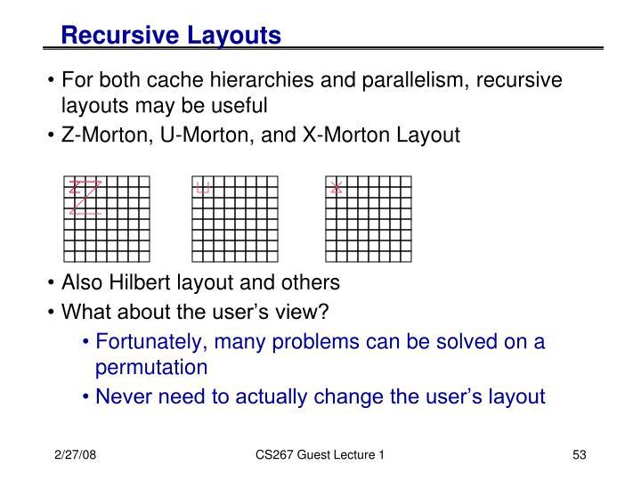 Recursive Layouts
