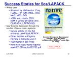 success stories for sca lapack