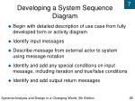 developing a system sequence diagram