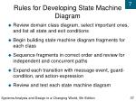 rules for developing state machine diagram