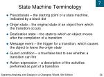 state machine terminology