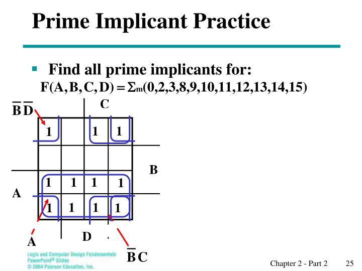 Prime Implicant Practice