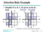 selection rule example