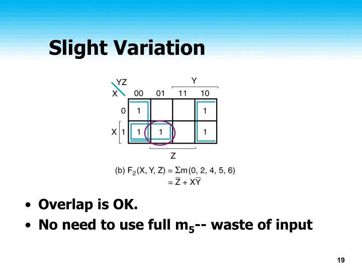 Slight Variation