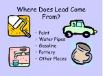 where does lead come from