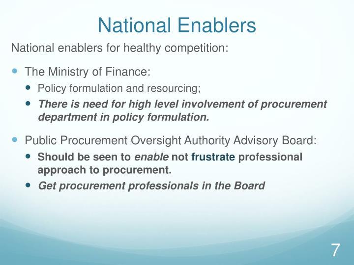 National Enablers