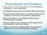 procurement unit enablers1
