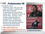 profesionales vb