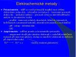 elektrochemick metody