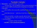 fyzik ln metody