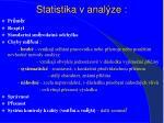 statistika v anal ze
