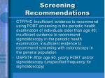 screening recommendations3