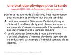 une pratique physique pour la sant rapport inserm 2008 a p contextes et effets sur la sant