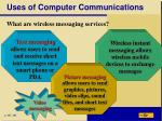 uses of computer communications1