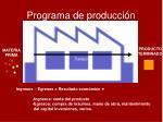 programa de producci n