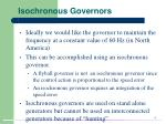 isochronous governors