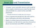 smart grid and transmission