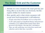 the smart grid and the customer