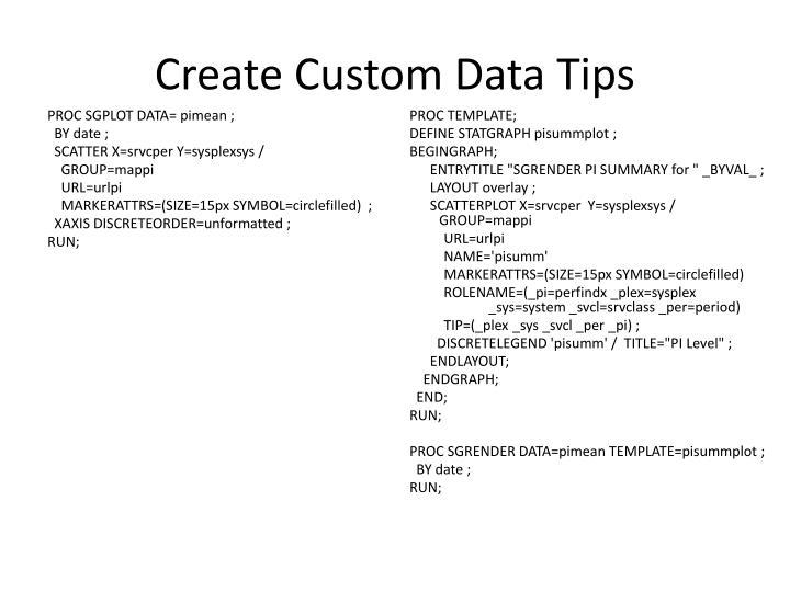 Create Custom Data Tips