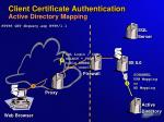 client certificate authentication active directory mapping