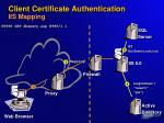 client certificate authentication iis mapping