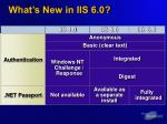 what s new in iis 6 0