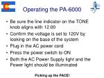 operating the pa 6000
